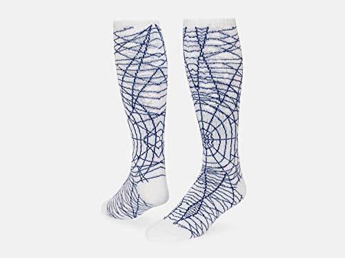 Red Lion Spider Knee High Socks (White/Royal Blue - Medium)