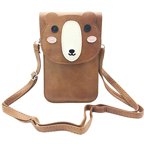 - Cell Phone Bag for Girls, Animal PU Leather Cross-body Pouch with Shoulder Strap for iPhone X / 8 Plus / 8/7 Plus / 6s / 6 / 5s, Samsung Galaxy Note 8 / S9 / S9 Plus / S8 / S7 Edge (bear)