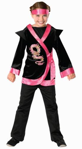 Child's Pink Dragon Ninja Costume, -
