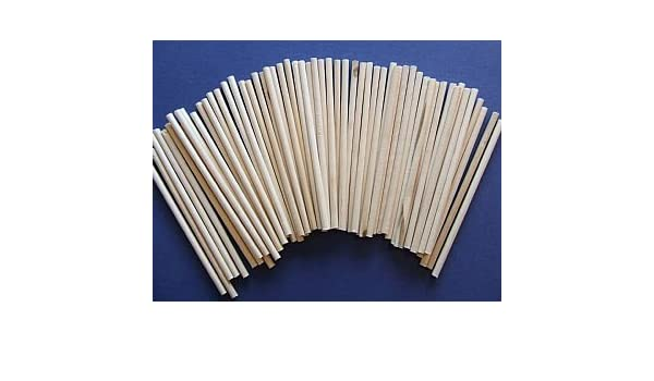 60 Mini 10cm Natural Wooden Dowels 4mm ThickWooden Shapes for Crafts