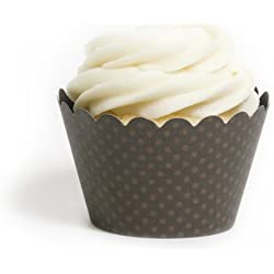 Dress My Cupcake Standard Espresso Brown Cupcake Wrappers, Set of 12