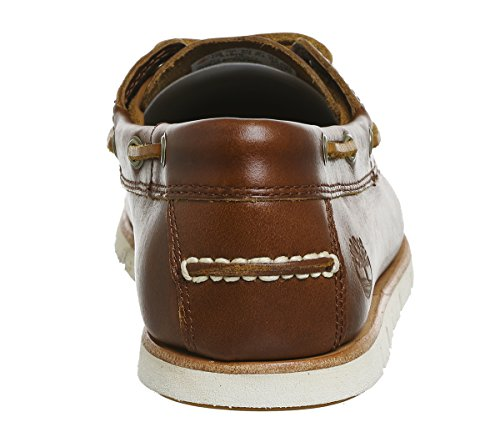 Timberland Men's Tidelands Classic 2 Eye Boat Shoes Brown Leather LZ5Ve