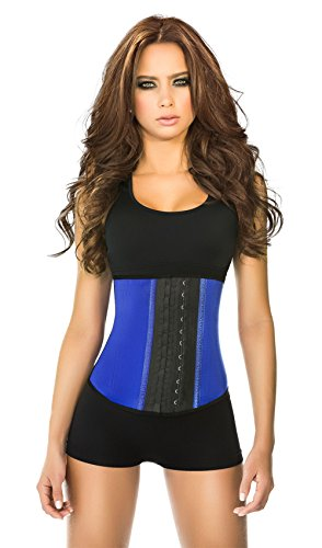 Ann Chery Women's Faja Deportiva Workout Waist Cincher, Blue, 3X-Large/42