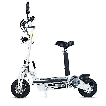 ECOXTREM Patinete Scooter Tipo Moto Eléctrico Dos Ruedas, Plegable, con suspensión, Motor de 800W, Velocidad hasta 40km/h, Autonomía 30-40km. ...