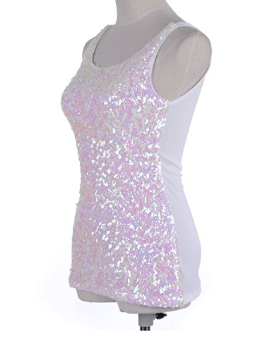 24a06826b726e1 PrettyGuide Women s Shimmer Glam Sequin Embellished Sparkle Tank Top Vest  Tops - Buy Online in UAE.