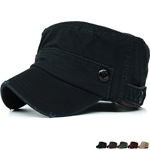 Visor Military Style Cap (Rayna Fashion Unisex Adult Cadet Caps Military Hats Various Style and Colors)
