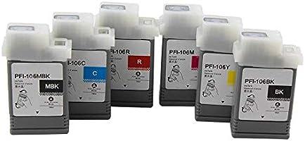 DYJXG Cartucho de Tinta PFI-106 Compatible IPF 6400/6450 / 6410/6460 Plotter Pigment Ink (Tinta de Tinte)-PC: Amazon.es: Electrónica