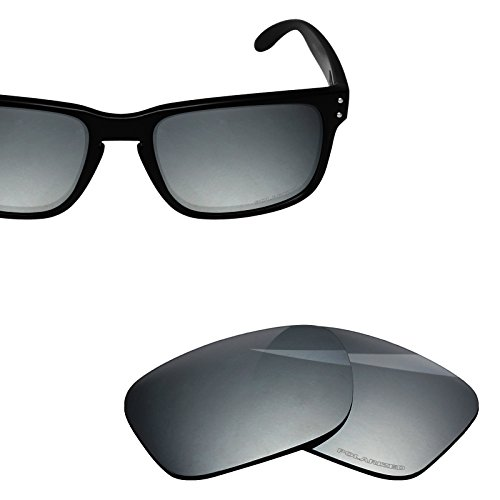 BlazerBuck Anti-salt Polarized Replacement Lenses for Oakley Holbrook - Silver Chrome Polarized by BlazerBuck