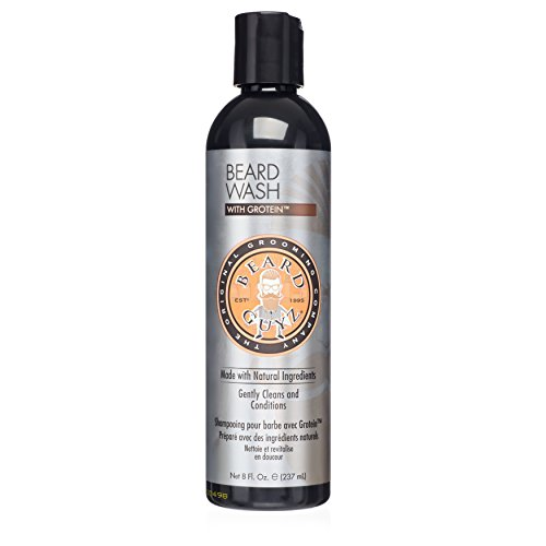Best Mens Beard Wash - Made with Natural Oil and Extracts - No More Dry or Irritated Skin - Smells Great - Citrus Scented Beard Shampoo/8 oz. Beard Care by Beard Guyz - Sensations Scented Shampoo