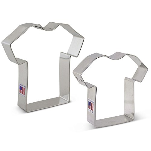 TShirt/Jersey Cookie Cutter Set  2 piece  Ann Clark  Tin Plated Steel