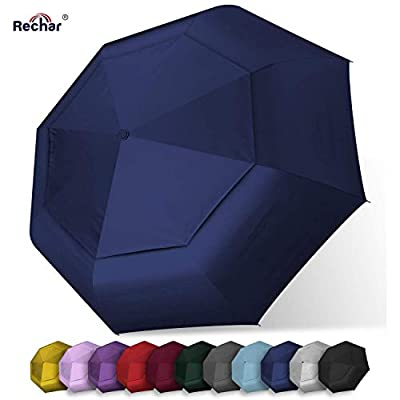 RECHAR Windproof Large Travel Umbrella ? 52 inch Automatic Unbreakable Umbrella, Men&Women Totes Umbrella, 1-Year Quality Warranty No Refund ...