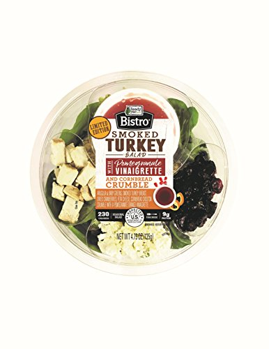Ready Pac Foods Smoked Turkey Salad with Pomegranate Vinaigrette & Cornbread Crumble, 4.75 oz