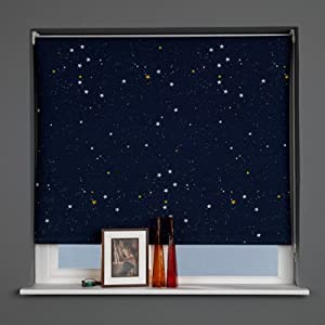 Sunlover patterned thermal blackout roller blinds star for Thermal star windows