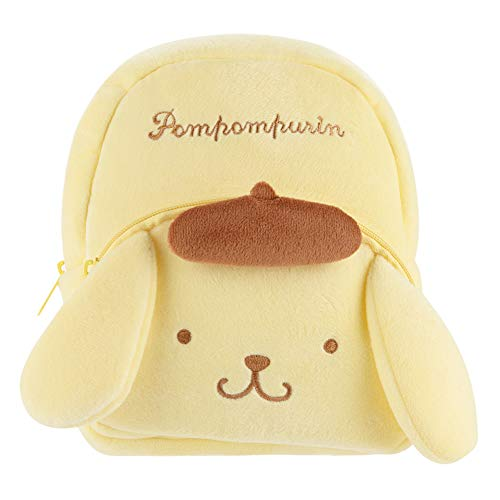 YOURNELO Kid's Cute Cartoon Hello Kitty Plush Toys Soft Toddler Backpack for Preschool Boys Girls (Pom Pom Purin)