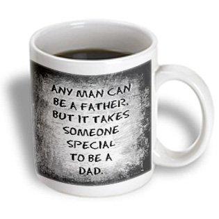 3dRose 214392/_1# #1 Dad Black Lettering On A White Background Mug 11 oz