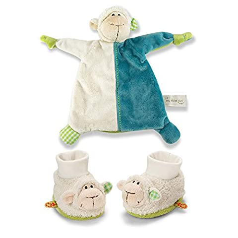 Plush Lamb Blanket and Rattling Baby Booties (Booties With Rattles)