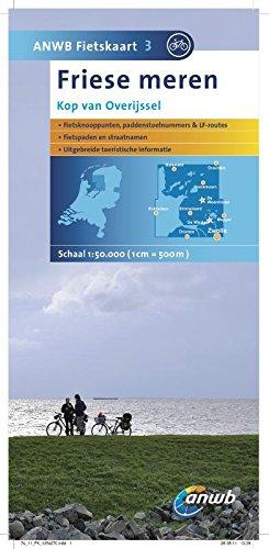 ANWB Fietskaart Karte Friese Meren, Kop van Overijssel (ANWB fietskaart (3))