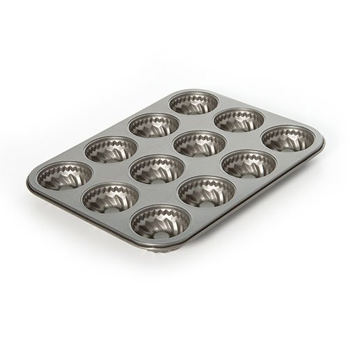 CAKE PAN MINI FLUTED NON-STICK 12 CUP MAINSTAYS 10 X 13