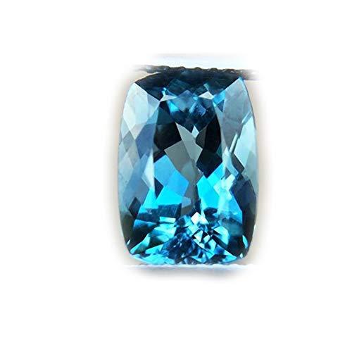 Lovemom 3.96ct Natural Cushion Irradiation London Blue Topaz Brazil #R