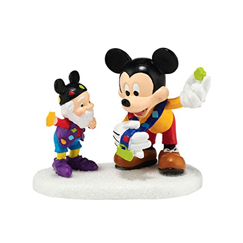 Department 56 North Pole Village Pin Trading with Mickey Accessory Figurine, 2