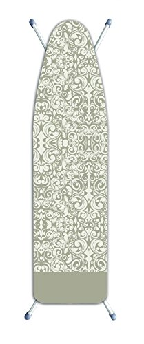 Laundry Solutions by Westex IB0320 Deluxe Extra Thick Damask Ironing Board Cover, Beige by Laundry Solutions by Westex