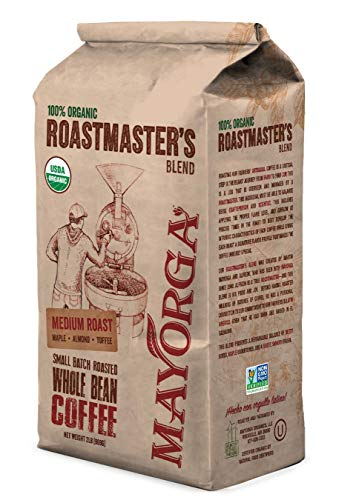Mayorga Organics, Whole Bean, 100% Organic, Medium Roast, Roastmaster's Blend 2lb