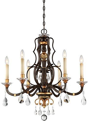 Metropolitan N6456-652 Chateau Nobles Chandelier, 6-Light 360 Total Watts, Raven Bronze