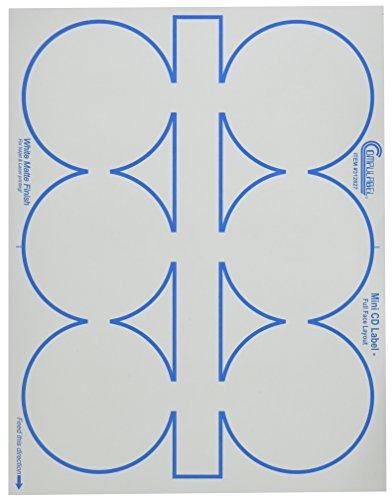 Compulabel 312827 White Full Face Mini CD Labels for Laser and Inkjet Printers, 3.06 inch, Permanent Adhesive, 6 Per Sheet, 100 Sheets per Carton (Full Face White Inkjet)