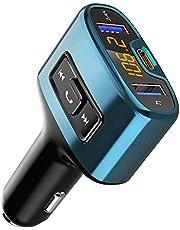 Transmetteur FM Bluetooth, Comsoon Émetteur FM Kit de Voiture sans Fil [18W Type-C Port de Charge] Adaptateur Radio avec Appel Main-Libre & Dual Port USB, Chargeur Voiture Support USB Flash Drive