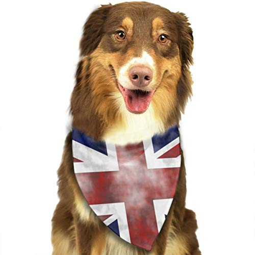 FRTSFLEE Dog Bandana Retro UK Britain Flag Scarves Accessories Decoration for Pet Cats and -