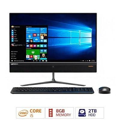 "2017 Lenovo IdeaCentre 510 23"" Full HD Touchscreen All-in-One Desktop PC, Intel Quad-Core i5-6400T Processor 8GB DDR4 2TB HDD NVIDIA GeForce 940MX DVD WIFI Webcam Wireless Keyboard + Mouse Windows 10"
