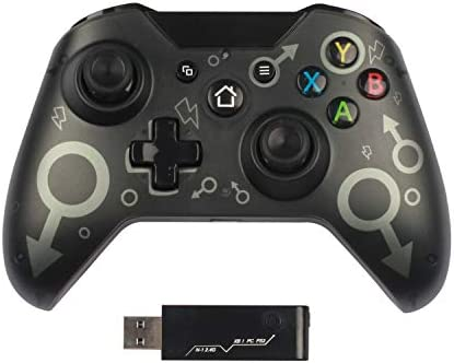 Chasdi Xbox One Wireless Controller Compatible with Xbox one, S, X, Series X S, PS3 and PC with 2.4Ghz Connection (Black)