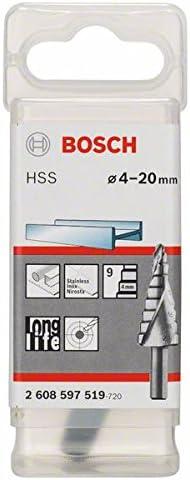 Bosch 2608597518 Fraise /étag/ée queue 3 pans Longueur 50 mm Ex/écution HSS