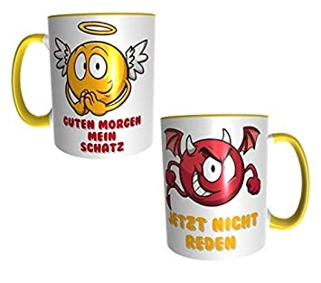 Peterr Design Kaffeetasse Engel Teufel Mit Spruch Guten