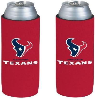 NFL Football Team Logo Ultra Slim Beer 12oz Can Holder Coolers 2-Pack