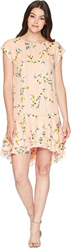 Joie Women's Coreen Silk Short Sleeve Dress Blush Sand m
