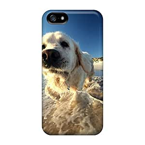 Anti-scratch And Shatterproof Water Dog For Iphone 5/5S Phone Case Cover High Quality Cases