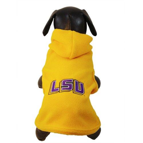NCAA Louisiana State Fightin Tigers Polar Fleece Hooded Dog Jacket, Tiny