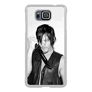 Samsung Alpha Phone Case,the Walking Dead White Pattern Cool Design Samsung Galaxy Alpha Cover Case