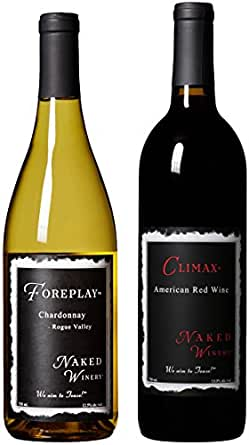 Chardonnay & Red Blend Dinner for Two Bundle Mixed Pack 2 x 750 mL, by Naked Winery