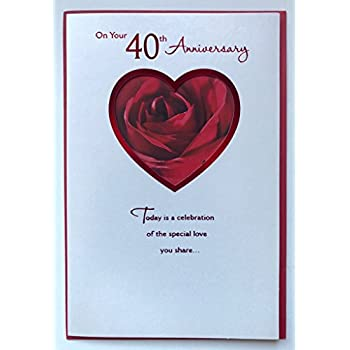Amazon 40th ruby wedding anniversary 40 year so right together 40th ruby wedding anniversary 40 year so right together new greeting card m4hsunfo
