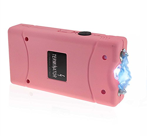 Terminator Stun Gun with Flashlight Max Power Mini Rechargeable Cheap Reliable Stun Gun With LED