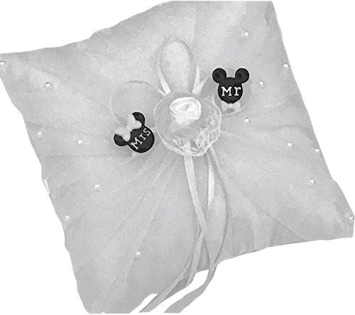 Mickey and Minnie Mouse Wedding Ring Pillow Party Keepsake Gift by onlinepartycenter