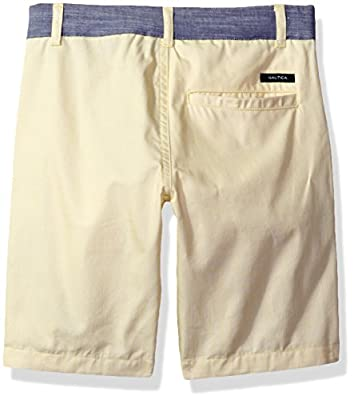 Nautica Boys' Short Sleeve Striped Button Down Shirts and Flat Front Short Two Piece Set