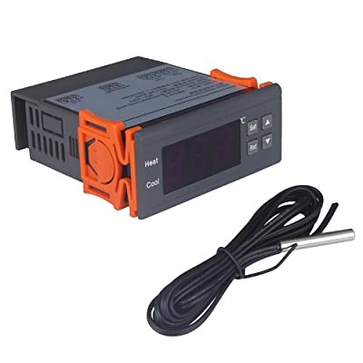 Docooler Digital Temperature Controller Thermocouple with Sensor (-40~120°C(12V))
