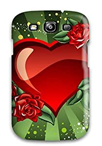 Tpu Shockproof/dirt-proof Holiday Valentines Day Heart Love Cover Case For Galaxy(s3)