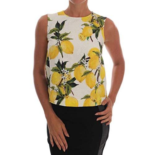 - Dolce & Gabbana Multicolor Lemon-Print Floral Top