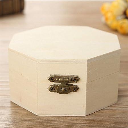 Caja de madera - 1 pieza multifunción de madera octogonal ...