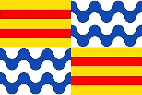 Banderas Online - Bandera de Badalona Tamaño 300X200 para exterior: Amazon.es: Deportes y aire libre