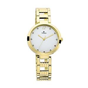 Titan Sparkle White Dial Analog Watch for Women - 2480YM01